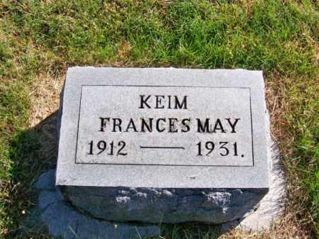 KEIM, FRANCES MAY - Brown County, Nebraska | FRANCES MAY KEIM - Nebraska Gravestone Photos