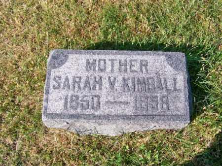 KIMBALL, SARAH V. - Brown County, Nebraska | SARAH V. KIMBALL - Nebraska Gravestone Photos