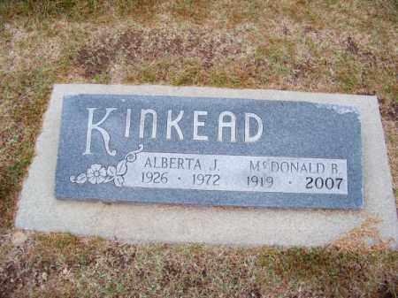 KINKEAD, MCDONALD B. - Brown County, Nebraska | MCDONALD B. KINKEAD - Nebraska Gravestone Photos