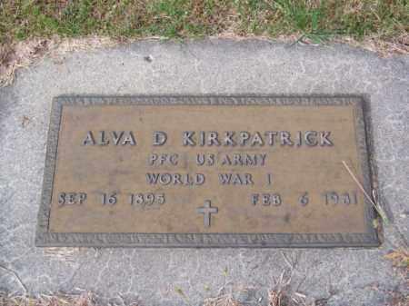 KIRKPATRICK, ALVA D. - Brown County, Nebraska | ALVA D. KIRKPATRICK - Nebraska Gravestone Photos