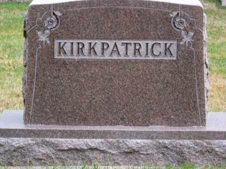 KIRKPATRICK, FAMILY - Brown County, Nebraska | FAMILY KIRKPATRICK - Nebraska Gravestone Photos