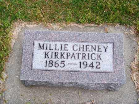 CHENEY KIRKPATRICK, MILLIE - Brown County, Nebraska | MILLIE CHENEY KIRKPATRICK - Nebraska Gravestone Photos