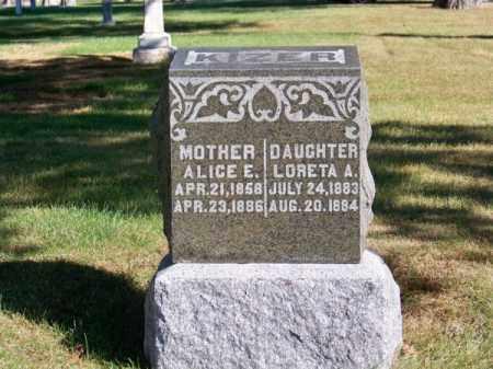 KIZER, ALICE E. - Brown County, Nebraska | ALICE E. KIZER - Nebraska Gravestone Photos
