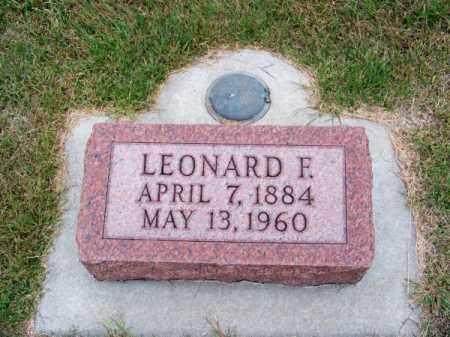 KOCH, LEONARD F. - Brown County, Nebraska   LEONARD F. KOCH - Nebraska Gravestone Photos