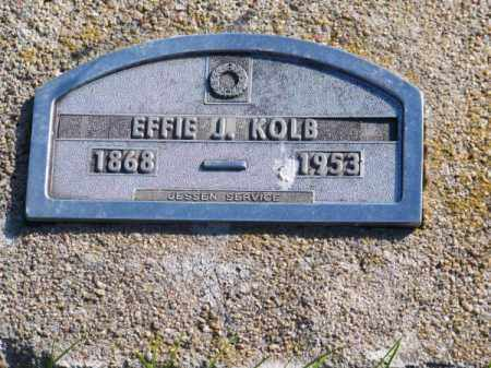 KOLB, EFFIE J. - Brown County, Nebraska | EFFIE J. KOLB - Nebraska Gravestone Photos