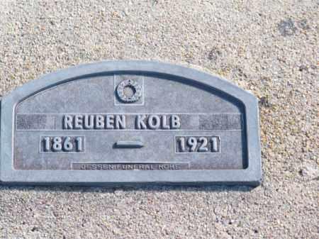KOLB, REUBEN - Brown County, Nebraska   REUBEN KOLB - Nebraska Gravestone Photos