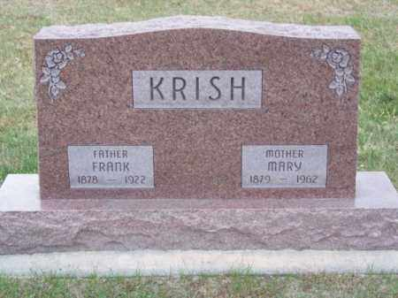 KRISH, MARY - Brown County, Nebraska | MARY KRISH - Nebraska Gravestone Photos