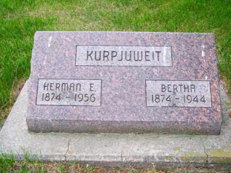 KURPJUWEIT, BERTHA - Brown County, Nebraska | BERTHA KURPJUWEIT - Nebraska Gravestone Photos