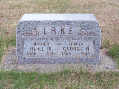 LAKE, ALICE M. - Brown County, Nebraska | ALICE M. LAKE - Nebraska Gravestone Photos