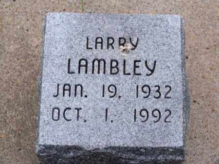 LAMBLEY, LARRY - Brown County, Nebraska | LARRY LAMBLEY - Nebraska Gravestone Photos