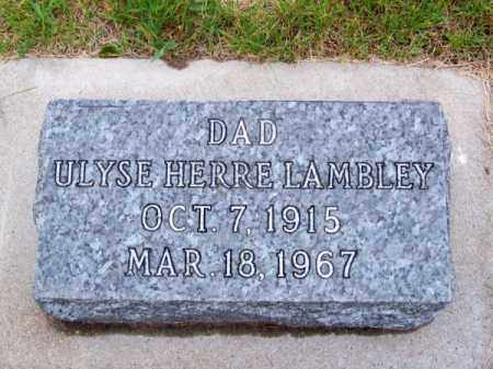 LAMBLEY, ULYSE HERRE - Brown County, Nebraska | ULYSE HERRE LAMBLEY - Nebraska Gravestone Photos