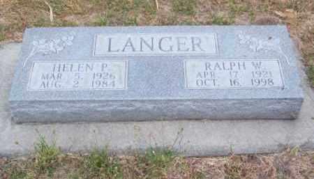 LANGER, HELEN P. - Brown County, Nebraska   HELEN P. LANGER - Nebraska Gravestone Photos