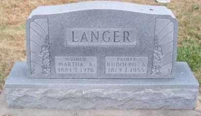 LANGER, MARTHA A. - Brown County, Nebraska | MARTHA A. LANGER - Nebraska Gravestone Photos