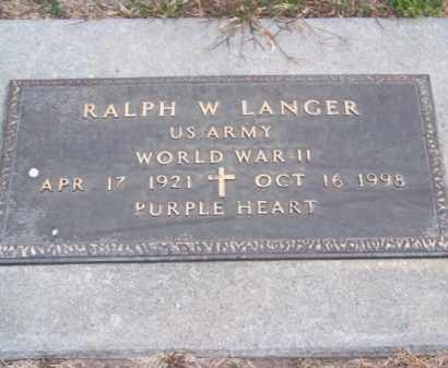 LANGER, RALPH W. - Brown County, Nebraska | RALPH W. LANGER - Nebraska Gravestone Photos
