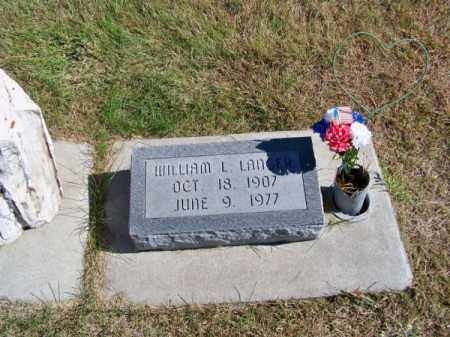 LANGER, WILLIAM L. - Brown County, Nebraska   WILLIAM L. LANGER - Nebraska Gravestone Photos
