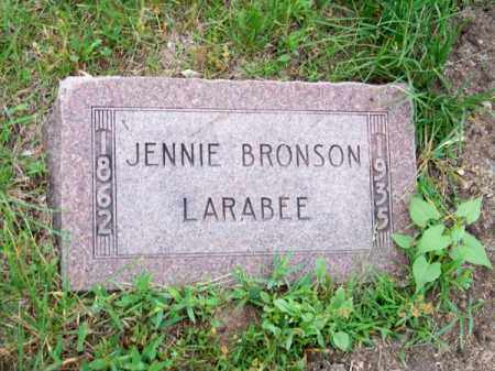 LARABEE, JENNIE BRONSON - Brown County, Nebraska | JENNIE BRONSON LARABEE - Nebraska Gravestone Photos