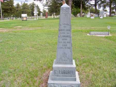 LARABEE, MARY ANN - Brown County, Nebraska | MARY ANN LARABEE - Nebraska Gravestone Photos