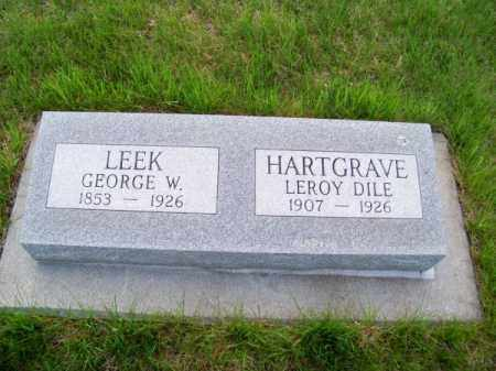 LEEK, GEORGE W. - Brown County, Nebraska | GEORGE W. LEEK - Nebraska Gravestone Photos
