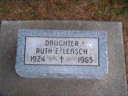 LENSCH, RUTH E. - Brown County, Nebraska | RUTH E. LENSCH - Nebraska Gravestone Photos