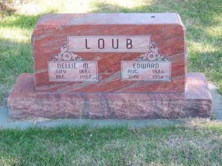 LOUB, EDWARD - Brown County, Nebraska | EDWARD LOUB - Nebraska Gravestone Photos
