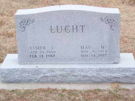 LUCHT, ELMER J. - Brown County, Nebraska | ELMER J. LUCHT - Nebraska Gravestone Photos