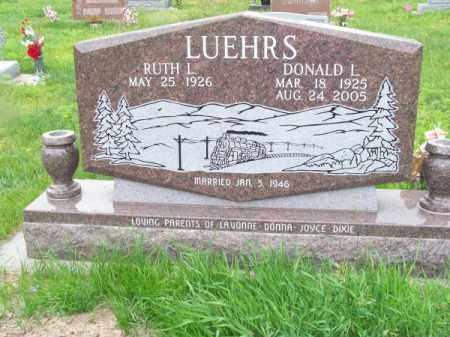 LUEHRS, DONALD L. - Brown County, Nebraska | DONALD L. LUEHRS - Nebraska Gravestone Photos