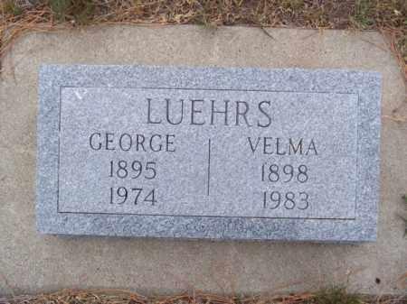 LUEHRS, GEORGE - Brown County, Nebraska | GEORGE LUEHRS - Nebraska Gravestone Photos