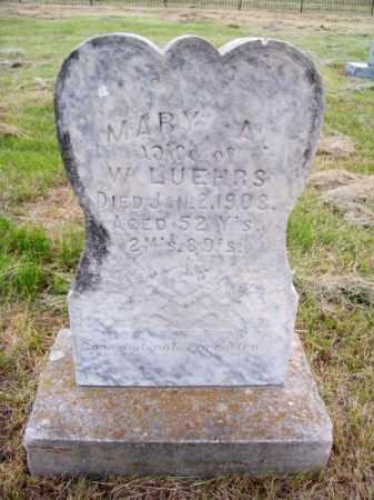 LUEHRS, MARY A. - Brown County, Nebraska | MARY A. LUEHRS - Nebraska Gravestone Photos