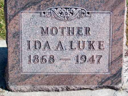 LUKE, IDA A. - Brown County, Nebraska | IDA A. LUKE - Nebraska Gravestone Photos