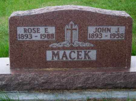 MACEK, JOHN J. - Brown County, Nebraska | JOHN J. MACEK - Nebraska Gravestone Photos