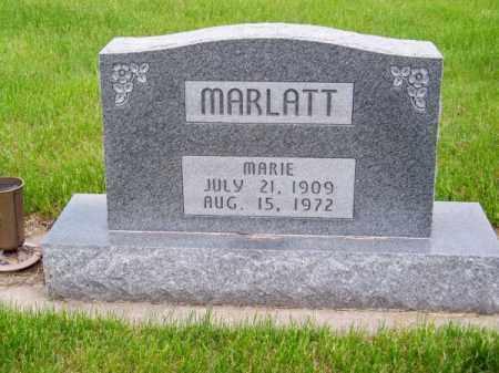 MARLATT, MARIE - Brown County, Nebraska | MARIE MARLATT - Nebraska Gravestone Photos