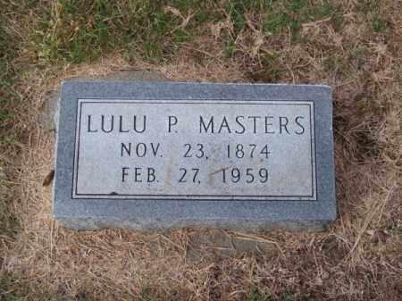 MASTERS, LULU P. - Brown County, Nebraska | LULU P. MASTERS - Nebraska Gravestone Photos
