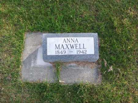MAXWELL, ANNA - Brown County, Nebraska | ANNA MAXWELL - Nebraska Gravestone Photos
