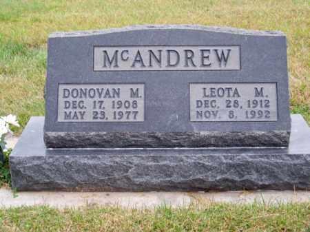 MC ANDREW, DONOVAN M. - Brown County, Nebraska | DONOVAN M. MC ANDREW - Nebraska Gravestone Photos