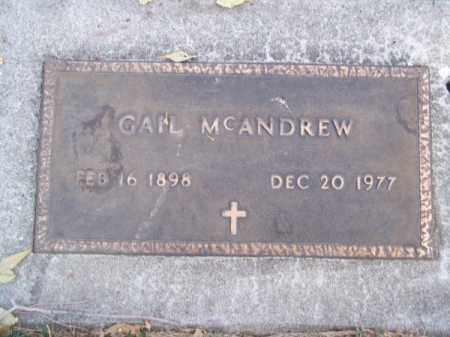 MC ANDREW, GAIL - Brown County, Nebraska | GAIL MC ANDREW - Nebraska Gravestone Photos