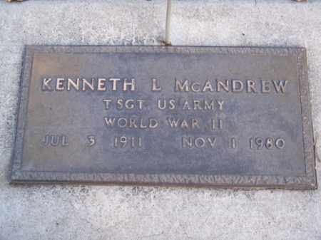 MC ANDREW, KENNETH L. - Brown County, Nebraska | KENNETH L. MC ANDREW - Nebraska Gravestone Photos