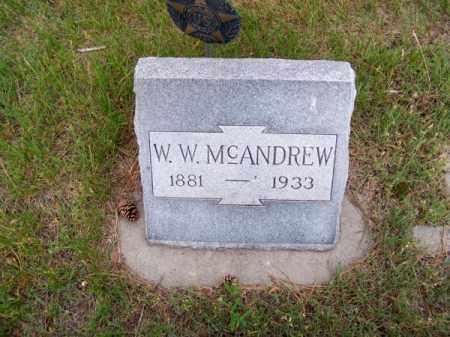 MC ANDREW, W. W. - Brown County, Nebraska   W. W. MC ANDREW - Nebraska Gravestone Photos