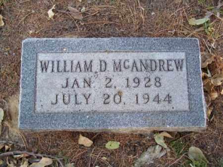 MC ANDREW, WILLIAM D. - Brown County, Nebraska   WILLIAM D. MC ANDREW - Nebraska Gravestone Photos