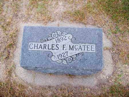 MC ATEE, CHARLES F. - Brown County, Nebraska | CHARLES F. MC ATEE - Nebraska Gravestone Photos