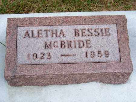 MC BRIDE, ALETHA BESSIE - Brown County, Nebraska | ALETHA BESSIE MC BRIDE - Nebraska Gravestone Photos