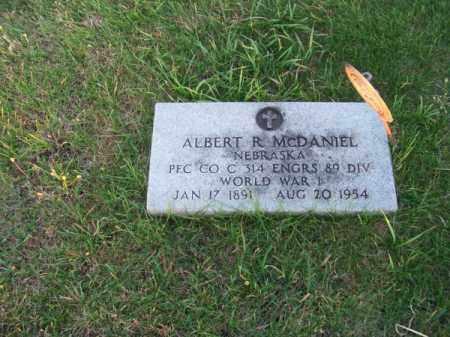 MC DANIEL, ALBERT R. - Brown County, Nebraska   ALBERT R. MC DANIEL - Nebraska Gravestone Photos