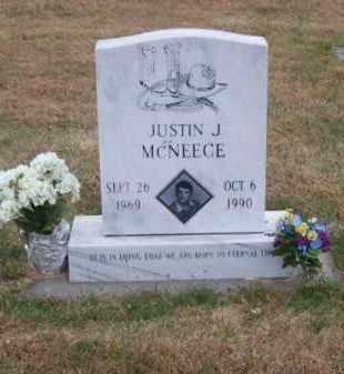 MC NEECE, JUSTIN J. - Brown County, Nebraska   JUSTIN J. MC NEECE - Nebraska Gravestone Photos