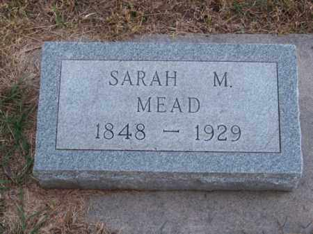 MEAD, SARAH M. - Brown County, Nebraska | SARAH M. MEAD - Nebraska Gravestone Photos