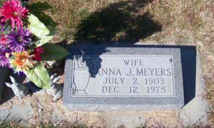 MEYERS, ANNA J. - Brown County, Nebraska | ANNA J. MEYERS - Nebraska Gravestone Photos