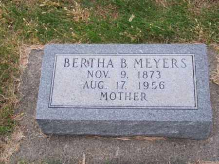 MEYERS, BERTHA B. - Brown County, Nebraska | BERTHA B. MEYERS - Nebraska Gravestone Photos