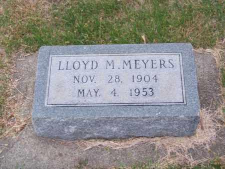 MEYERS, LLOYD M. - Brown County, Nebraska | LLOYD M. MEYERS - Nebraska Gravestone Photos