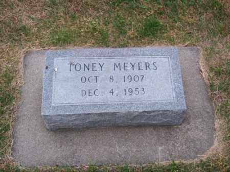 MEYERS, TONEY - Brown County, Nebraska | TONEY MEYERS - Nebraska Gravestone Photos