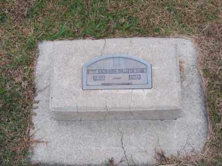 MILES, ANNICE S. - Brown County, Nebraska | ANNICE S. MILES - Nebraska Gravestone Photos