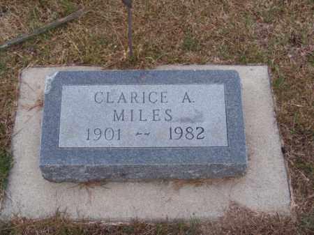 MILES, CLARICE A. - Brown County, Nebraska | CLARICE A. MILES - Nebraska Gravestone Photos