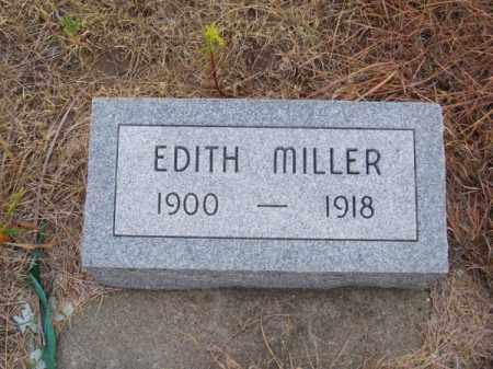 MILLER, EDITH - Brown County, Nebraska | EDITH MILLER - Nebraska Gravestone Photos